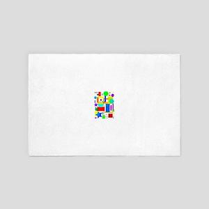 Color is art 2 4' x 6' Rug