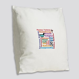 Pharmacy tech meds 8 Burlap Throw Pillow