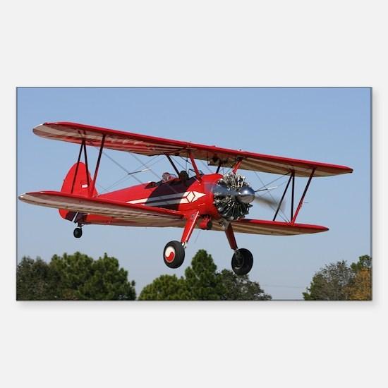 Stearman airplane Rectangle Decal