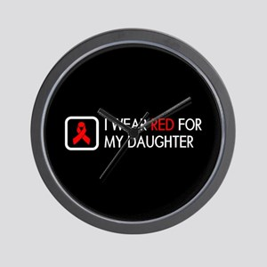 Red Ribbon: Red for my Daughter Wall Clock