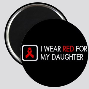 Red Ribbon: Red for my Daughter Magnet