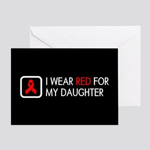 Red Ribbon: Red for my Daughter Greeting Card
