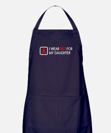 Red Ribbon: Red for my Daughter Apron (dark)