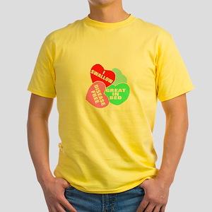 NAUGHTY HEARTS Yellow T-Shirt