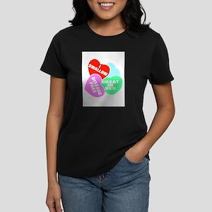 NAUGHTY HEARTS Women's Dark T-Shirt
