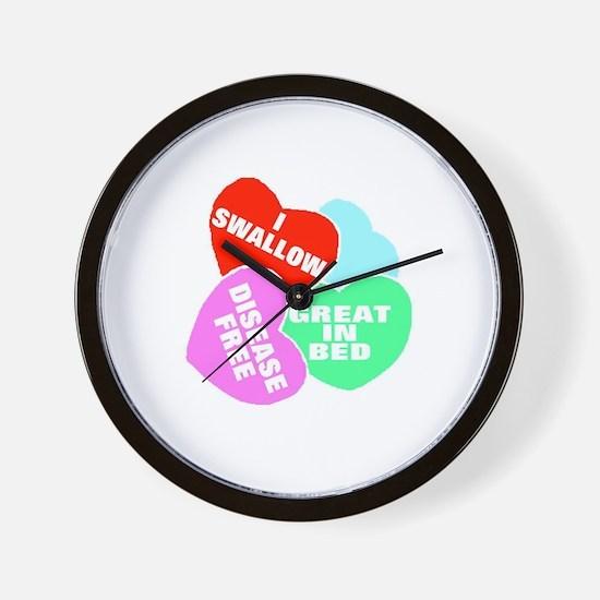 NAUGHTY HEARTS Wall Clock