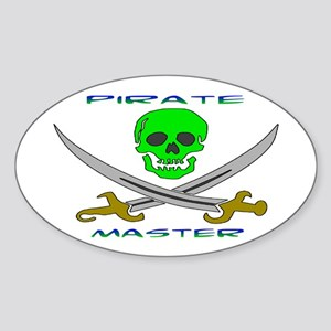 Pirate Master Oval Sticker