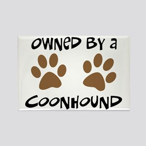 Owned By A Coonhound Rectangle Magnet