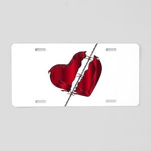 Torn Love Heart Aluminum License Plate