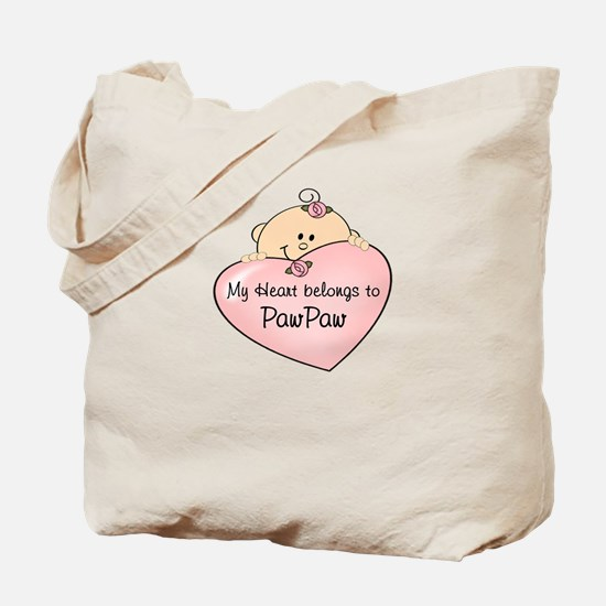 Heart Belongs to PawPaw Tote Bag