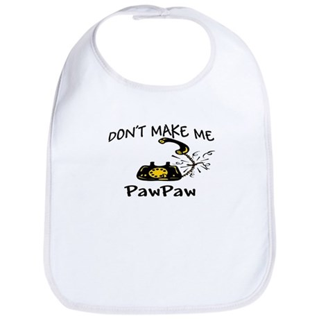 Call PawPaw with Black Phone Bib