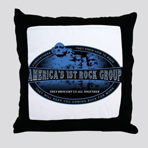 Americas First Rock Group Throw Pillow