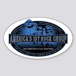 Americas First Rock Group Oval Sticker