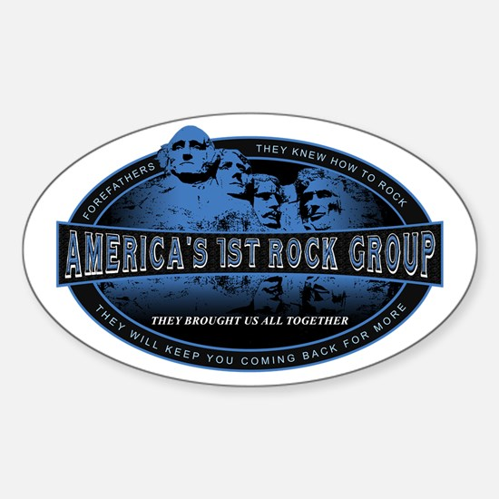 Americas First Rock Group Oval Decal