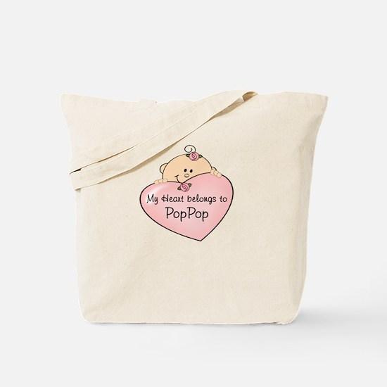 Heart Belongs to PopPop Tote Bag
