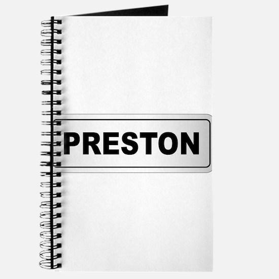 Preston City Nameplate Journal