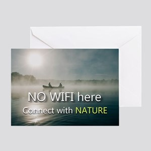 No Wifi On The Lake Greeting Cards