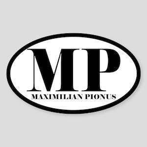 MP Abbreviated Maximilian Pionus Oval Sticker