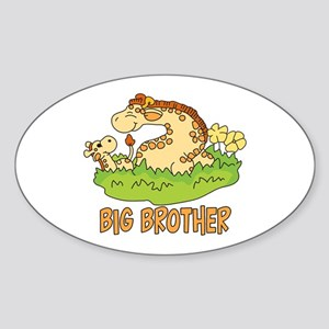 Two Giraffes Big Brother Oval Sticker