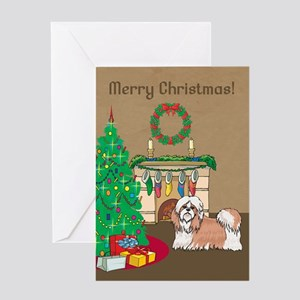Shih Tzu Merry Christmas Greeting Card
