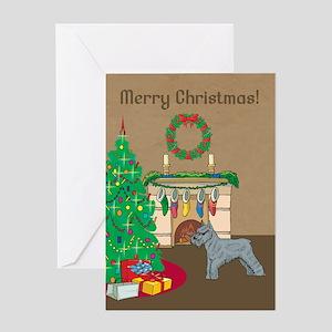 Schnauzer Merry Christmas Greeting Card
