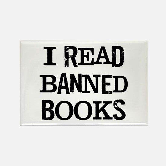 I Banned Books Rectangle Magnet