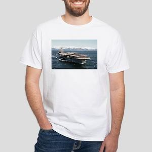USS Abraham Lincoln Ship's Image White T-Shirt