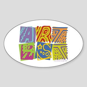 Artist Oval Sticker