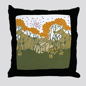 Arts and Crafts Trees Throw Pillow