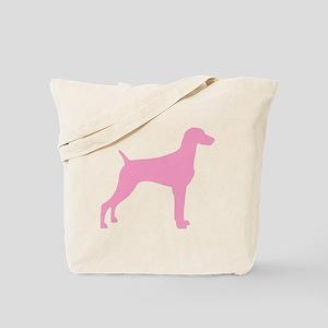 Pink Weimaraner Tote Bag