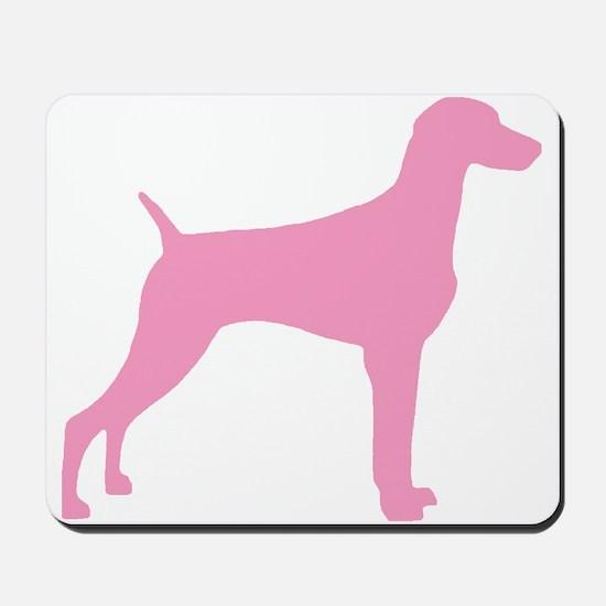 Pink Weimaraner Mousepad
