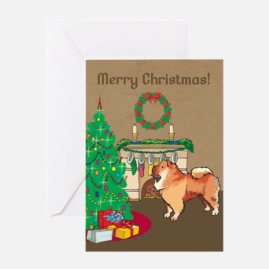 Chow Chow Merry Christmas Greeting Card