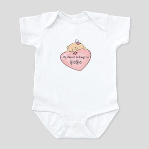 Heart Belongs to YiaYia Infant Bodysuit