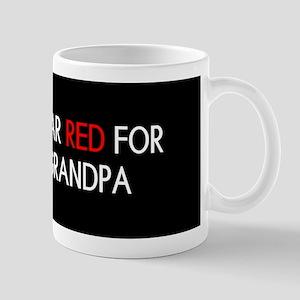 Red Ribbon: Red for my Grandpa Mug