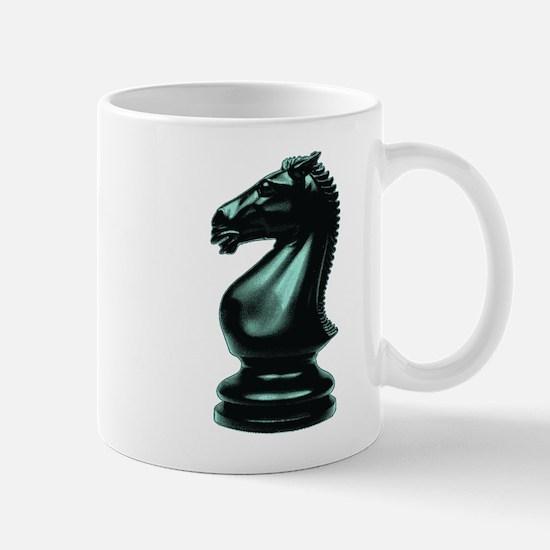 Black Chess Knight Mug