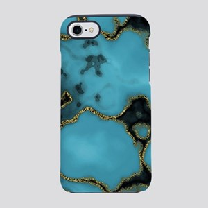 Turquoise and Gold iPhone 8/7 Tough Case