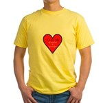Love Grandma, Grandpa Yellow T-Shirt