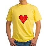 Love Grandma, Grandpa Yellow T-Shirt