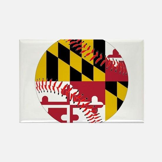 Maryland Flag Baseball Magnets