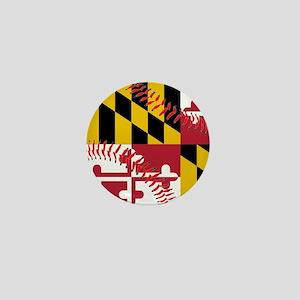 Maryland Flag Baseball Mini Button