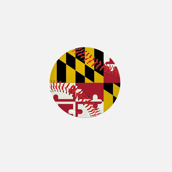 Maryland Flag Baseball Mini Button