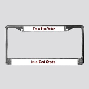 Blue Voter License Plate Frame