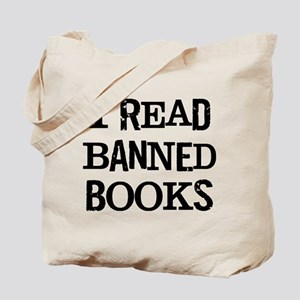 8d07245cd232 I Read Banned Books Bags - CafePress