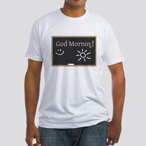 Phonetic Good Morning Fitted T-Shirt