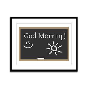 Phonetic Good Morning Framed Panel Print