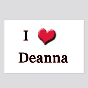 I Love (Heart) Deanna Postcards (Package of 8)