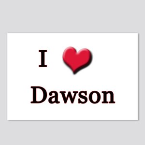 I Love (Heart) Dawson Postcards (Package of 8)