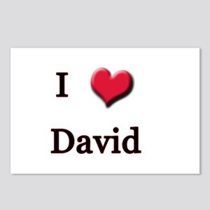 I Love (Heart) David Postcards (Package of 8)
