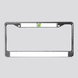 floral peacock License Plate Frame