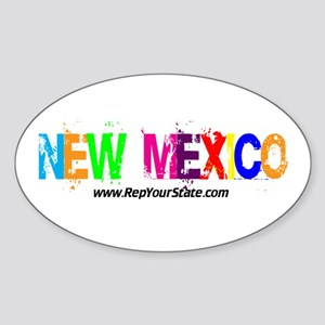 Colorful New Mexico Oval Sticker